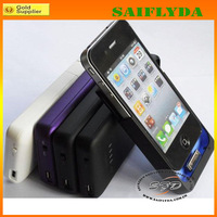 High quality 1900mah external portable battery case for iphone 4 4s many color for your choose