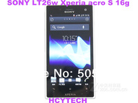 Refurbished Original  Unlocked Sony LT26w  Xperia acro S 16g  Wi-Fi-GPS-12.1MP-4.3''  Dual core 16gb Built-in free shipping