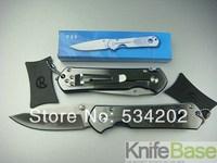 Wholesale Chris Reeve CR F-32 blue shadow Pocket knife 440c 57HRC sand light Surface belt clip folding knives tools 10pcs/lot