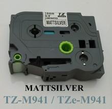 3/4″ 18mm laminated tz tape tz941 black on mat silver tzm-941 tze 941 label tape for p touch