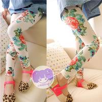 Kids leggings summer new 2014 Girl legging modal  Floral Skinny Pencil Pants for girls children pantsfloral leggings