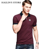 New Arrival 2014 Men's Fashion Lapel Short Sleeve Polo Shirts Summer Casual Sports Tee Shirts For Men Red Wine MT-088