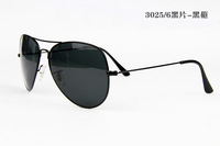Glass Black Lens RB 3026 Sunglasses Outdoor Sport Sun Glasses UV400 Aviator Metal Classic Retro Brand Men Women Lover Sunglass