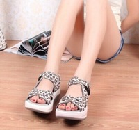 2014 wedges platform open toe platform sandals princess fashion women's shoes