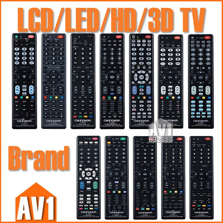 LCD/LED/HD/3D TV Remote Control for Brand TV as sony, samsung, sharp, lg, toshiba, philips, panasonic, hitachi, sanyo,haier etc.(China (Mainland))