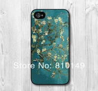 Free Shipping Van Gogh Flower Hard Cover Case For iPhone 5 5g 5th