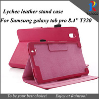 """Brand New For samsung galaxy tab pro 8.4"""" T320 Lychee high quality leather protective case,for galaxy tab pro t320 leather cover"""