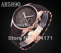Fashion Brand Ar 5890 5890 - Rubber Strap Analog Quartz Watch For Men Sport watches Chronograph Watch
