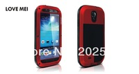 Love Mei 3D silicone with metal shockproof case for Samsung Galaxy S4 I9500