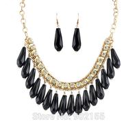 новый дизайнер ювелирных красочные большой горный хрусталь моды заявление ожерелье воротник для женщин