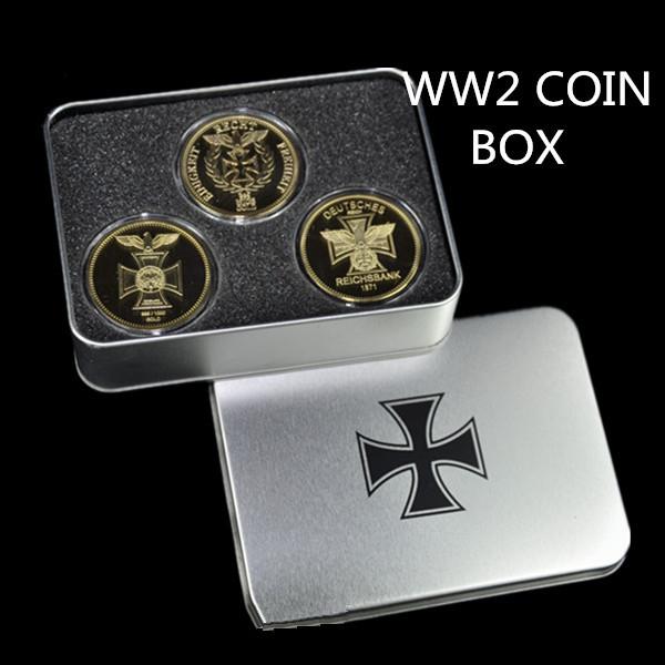 2014 new , WW German coin 3 pcs(Deutsche COIN 1871,1872,1888 1) + display Box including laser logo(China (Mainland))