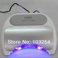 Big promotion!!! 8 pcs/ lot Free shipping Only US$83.5/PCS Harmony style 18K 36 watts  NAIL LED LAMP 18K LED NAIL LIGHT DRYER