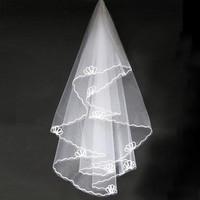On sale Bridal veil 1.5 meters short design thick line edge veils wedding accessories wholesale price 2014 new