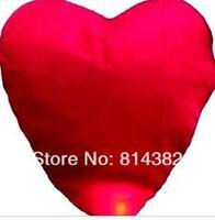 5pcs/lot Quality Heart Design Sky Kongming Lantern +Pen Flying Wishing Lamp Toys Memorial Wedding Party Paper Lights 83*59*33cm