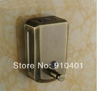Free shipping Wholesale And Retail Promotion Antique Bronze Wall Mount Soap Dishpenser Square Bathroom Soap Dishpenser 500ml