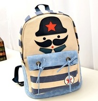 Female casual backpack middle school students school bag cartoon canvas bag fashion backpack