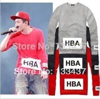 2014 New Brand CLOT Hood By Air HBA Men Women Loose Long Sleeve Hoody And Sweatshirt Cotton Hip Hop Sports Large yard hoodies