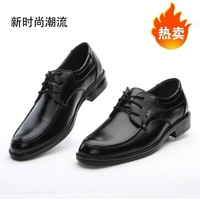 2014 new Male business casual leather black formal lacing shoes breathable the trend of low men's