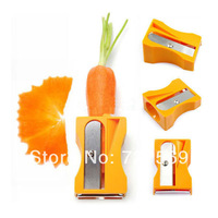 Carrot Cucumber Sharpener Peeler Kitchen Gadget Tool Vegetable Fruit Curl Slicer