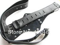 Leather Female Chastity Belt Device Underwear Short Pants w/ Anal Vaginal Vibrator Plug YC116