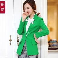 Vestidos Femininos New Time-limited Regular Solid Blaser Feminino Cardigans 2014 Spring And Summer Women's Blazer Coat Jacket