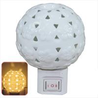 Ceramic cutout small night light  wall lamp bedroom lamp energy saving lamp