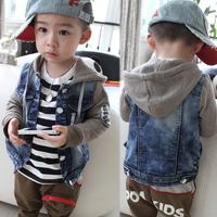 Free shipping! 2014 New Boys Coat And Jacket For Children Boys Denim Jacket Children Hoodies Boy Outerwear