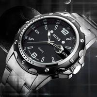 Brand SKONE 7147 brand fashion watch men quartz watch men full steel watch,military watches