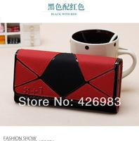 2014 hot sale Free Shipping Fashion leather women wallet ladies' purse Genuine leather wallets women,leather wallet,048