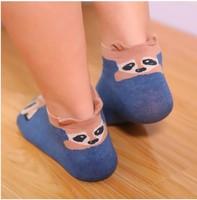 Free shipping 5pairs / lot 2014 new design Cartoon small bear cotton girl boat socks wholesale