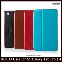 HOCO Brand Retro Style Environmental Friendly Leather Flip Stand Case for Samsung Galaxy Tab pro 8.4 + Free Shipping