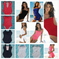 2014 Women Slim One Pieces Swimwear, Push up Swimsuit with padded, Sexy bathing suit for women, 5 colors vintage swimming wear