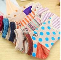 Free shipping 5pairs / lot 2014 new design Cartoon animal cotton girl boat socks wholesale