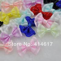 60pcs Upick Mini Ribbon Bows DIY Sewing Appliques Crafts Wedding Deco A0159