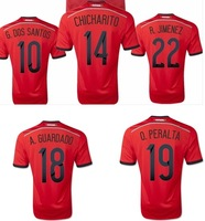 Top Thai Quality 2014 world cup Mexico chicharito dos santos marques hernandez jimenez sanchez away soccer football Jersey shirt