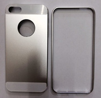 Black Gold Silver 2-Piece Design Matte Aluminum Case Cover for iPhone 5 5S
