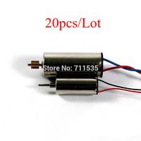 20pcs/Lot V911-17 Main Motor + V911-20 Tail Motor Set Spare Parts For WLTOYS  V911 V911-1 2.4G 4CH Remote Control RTF Helicopter