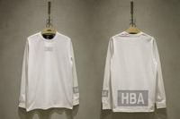 Free shipping high quality Hba hood by air 14ss 3m reflective logo long-sleeve tee box