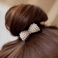 Spring 2014 Sweet Wind Jewelry Pearl Bow Hair Jewelry C56