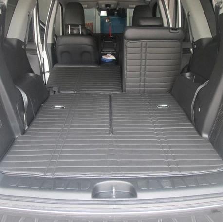Free shipping for 2008-2013 KIA Borrego 7seats car trunk mat+back cushion durable waterproof mats 2013 KIA Borrego luggage pads(China (Mainland))