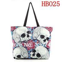 New 2014 Fashion Skull Rose Desigual bag Handbag Printed Handbag Shoulder bag With messenger bag HB025