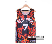 High quality 2014 pyrex fashion bird of paradise flower-de-luce 7 lovers mesh basketball vest