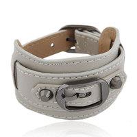 2014 European and American Fashion Joker Leather Belt Metal Bracelets&Bangles Leather  Bracelet For Woman Jewelry Wholesale