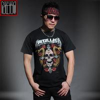 Metallica rock metal 3d t shirt mens tee shirt cotton short sleeve casual mens black t shirts fashion 2014 camisetas masculinas