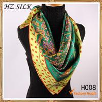 turkey scarf  fashion 90x90cm green chain turkey scarf