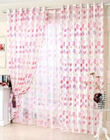 New Arrival Red Butterfly  Window Curtain For Living Room Blackout Curtain Without Tulle150*250cm Floral Kitchen Curtains