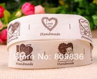 25mm,Cartoon animal series design Handmade sewing cotton ribbon,cloth accessories,Scrapbooking printing ribbons(ss-363)