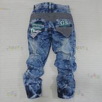 Tidal current male jeans trousers middlelowlevel pants hanging crotch pants harem pants trousers male plus size