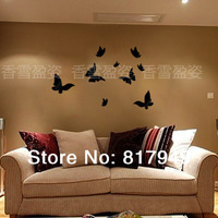32 pcs 3D Mirror Wall Sticker Home decor big SIZE decorative wall clock wall watche Modern design living room wall decor P025
