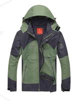 Free shipping Men Winter Sport Skiing Jacket,windproof waterproof thermal Camping & Hiking jacket, Dual layer laminated
